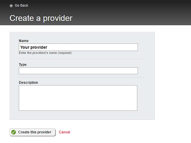 Create a provider