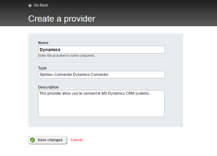 Providers and roles Dynamics