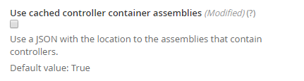 Use cached controller container assemblies